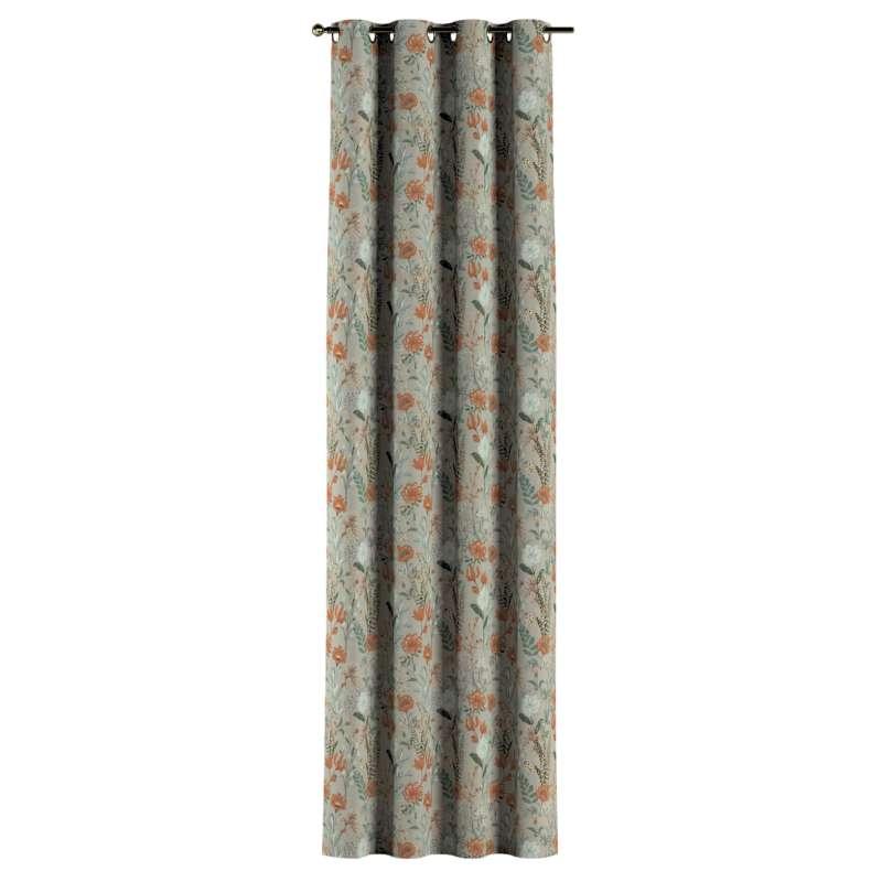 Zasłona na kółkach 1 szt. w kolekcji Flowers, tkanina: 143-70