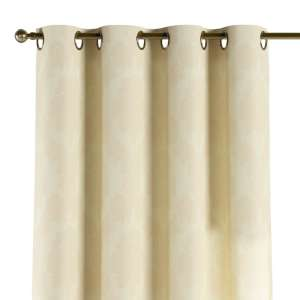 Gardin med öljetter 1 längd 130 x 260 cm i kollektionen Damasco, Tyg: 613-01
