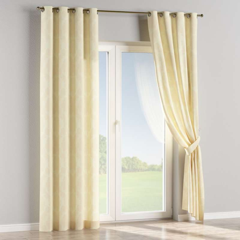 Eyelet curtain in collection Damasco, fabric: 613-01