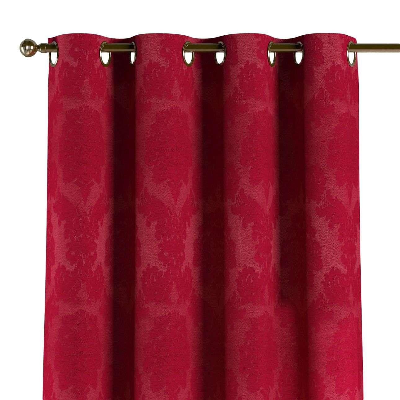 Gardin med öljetter 1 längd 130 x 260 cm i kollektionen Damasco, Tyg: 613-13