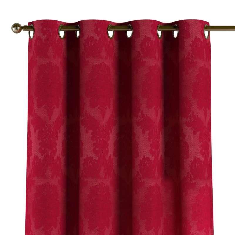 Gardin med öljetter 1 längd i kollektionen Damasco, Tyg: 613-13