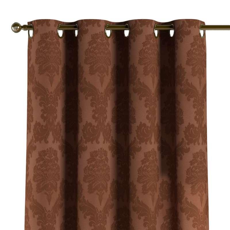 Gardin med öljetter 1 längd i kollektionen Damasco, Tyg: 613-88