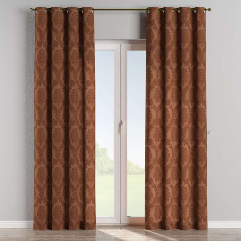Eyelet curtain in collection Damasco, fabric: 613-88