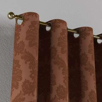 Gardin med öljetter 1 längd 130 x 260 cm i kollektionen Damasco, Tyg: 613-88