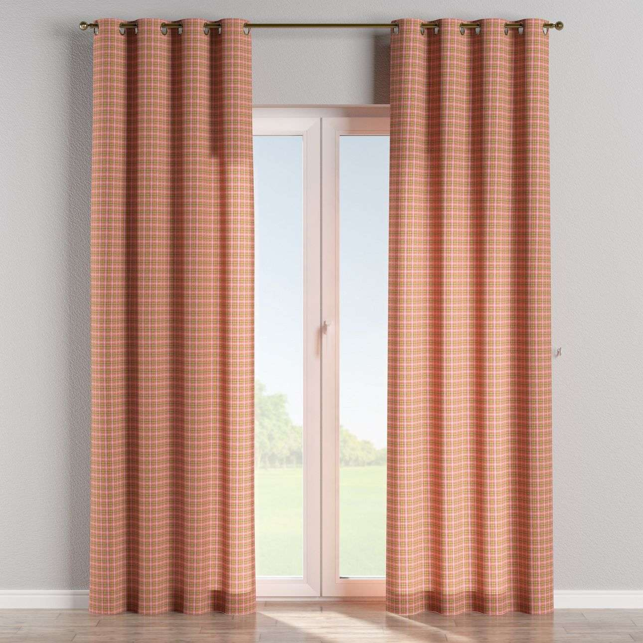 Eyelet curtains 130 x 260 cm (51 x 102 inch) in collection Bristol, fabric: 126-25