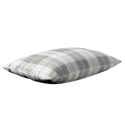 Poszewka Kinga na poduszkę prostokątną 115-79 krata szaro-biała Kolekcja Edinburgh