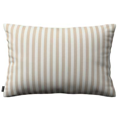 Kinga dekoratyvinės pagalvėlės užvalkalas 60x40cm 136-07 Smėlio ir šviesios spalvos juostelės, audinys turi natūralų švelnų pasibangavimą Kolekcija Quadro