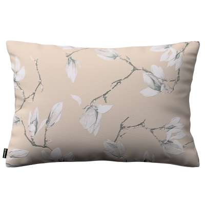 Poszewka Kinga na poduszkę prostokątną 311-12 magnolie na beżowym tle Kolekcja Flowers