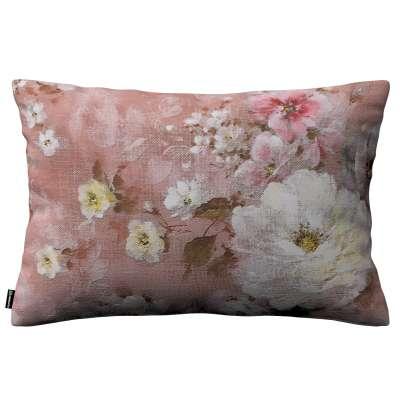 Karin - jednoduchá obliečka, 60x40cm 137-83 krémove a ružové kvety na tmavo ružovom podklade Kolekcia Flowers