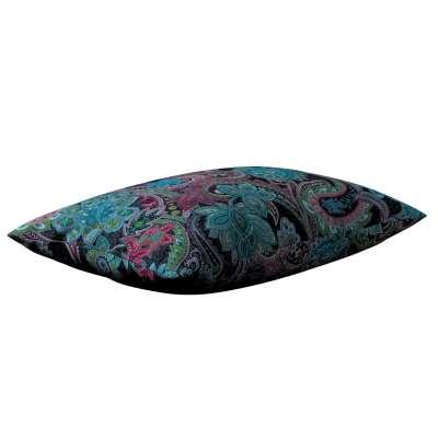 Párnahuzat Kinga 60x40cm 704-22 kék-rózsaszín-zöld Méteráru Velvet  Lakástextil
