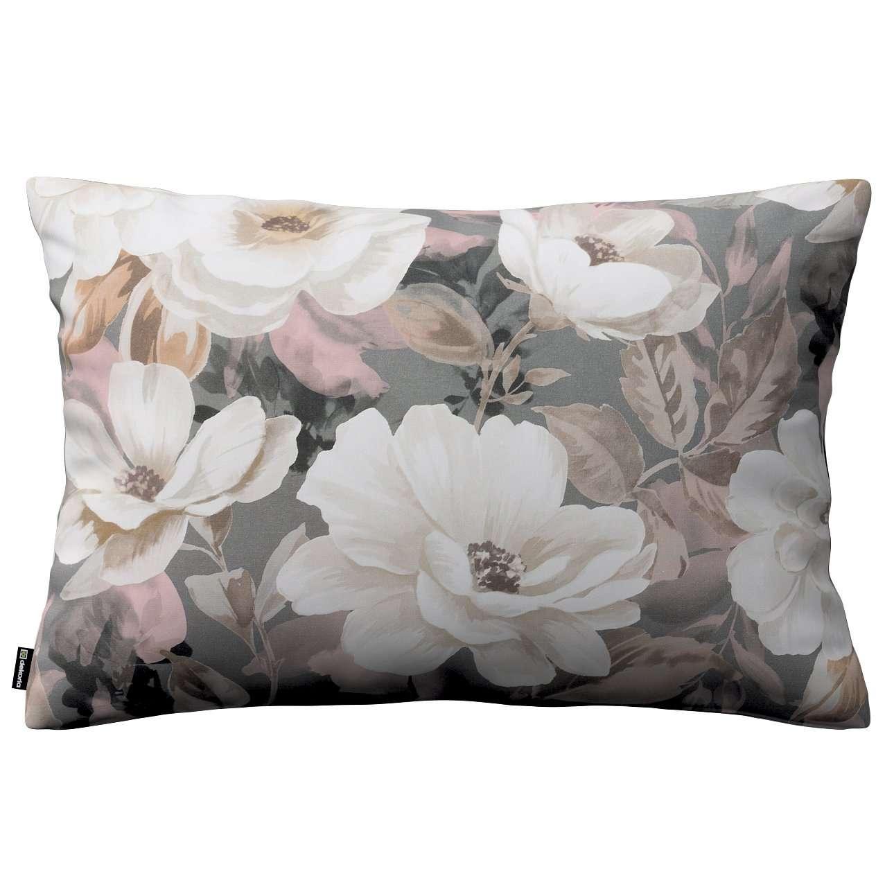 Kissenhülle Kinga 60x40cm, grau-rosa, 60 × 40 cm, Gardenia