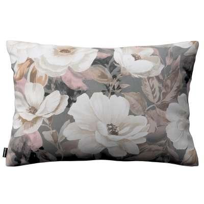 Karin - jednoduchá obliečka, 60x40cm 142-13 svetlé kvety na sivom podklade so svetlo ružovou a béžovou Kolekcia Gardenia