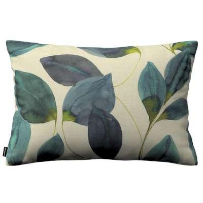 Karin - jednoduchá obliečka, 60x40cm 143-15 smaragdovo - zelené listy s fialovým nádychom na plátne Kolekcia Abigail