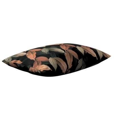 Karin - jednoduchá obliečka, 60x40cm 143-21 borskyňovo - hnedé listy na čiernom pozadí Kolekcia Abigail