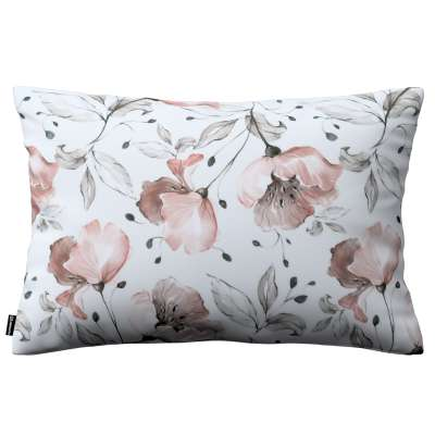 Kinga cushion cover 60x40cm 704-50 pink flowers on a cream background Collection Velvet