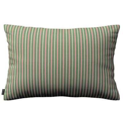 Poszewka Kinga na poduszkę prostokątną 143-42 pasy w odcieniach zieleni i czerwieni Kolekcja Londres