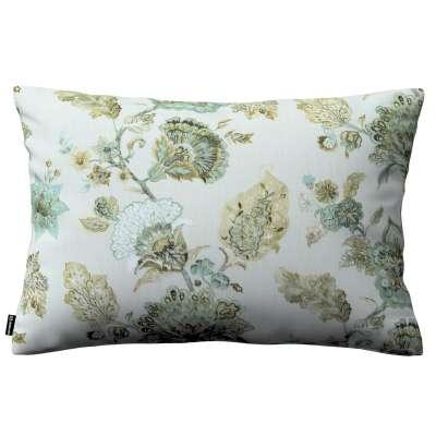 Poszewka Kinga na poduszkę prostokątną 143-67 kwiaty na beżowo - szarym tle Kolekcja Flowers