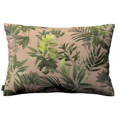 Poszewka Kinga na poduszkę prostokątną 143-71 zielona roślinność na brudnoróżowym tle Kolekcja Tropical Island