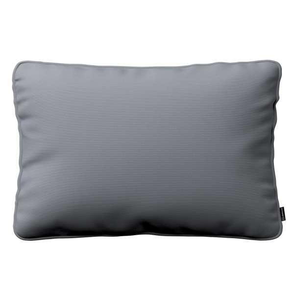 Kissenhülle Gabi mit Paspel 60x40cm, Slade grey, 60 x 40 cm, Cotton Panama