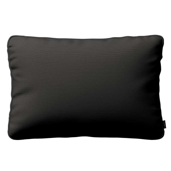 Kissenhülle Gabi mit Paspel 60x40cm, Shadow grey, 60 x 40 cm, Cotton Panama