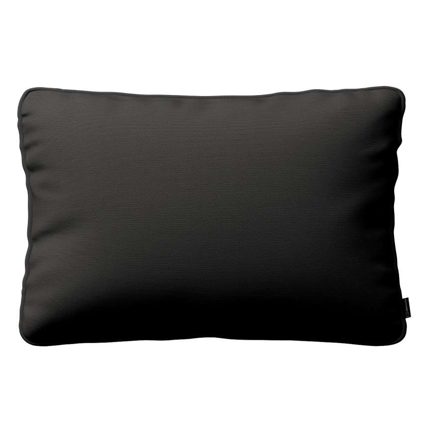 Gabi Piped Cushion Cover 60x40cm Graphite Grey With A