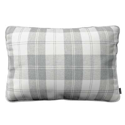 Poszewka Gabi na poduszkę prostokątna 115-79 krata szaro-biała Kolekcja Edinburgh