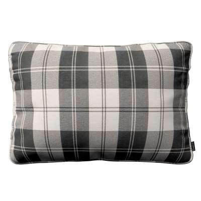 Poszewka Gabi na poduszkę prostokątna 115-74 krata czarno-biała Kolekcja Edinburgh