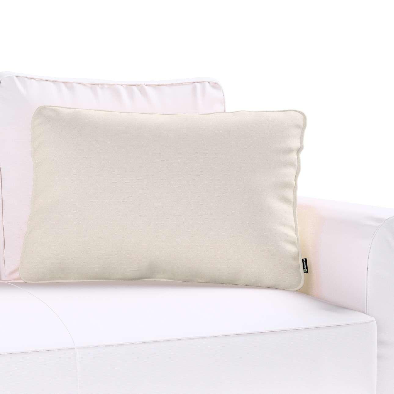 Kissenhülle Gabi mit Paspel 60x40cm 60 x 40 cm von der Kollektion Cotton Panama, Stoff: 702-31