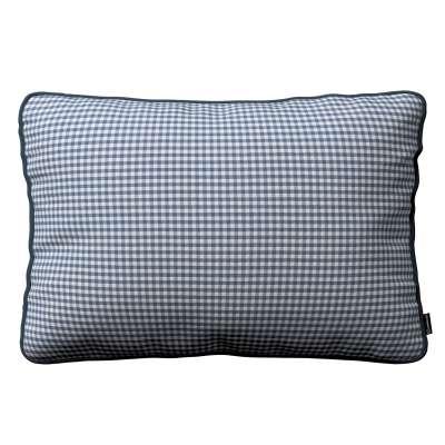 Poszewka Gabi na poduszkę prostokątna 136-00 granatowo biała krateczka (0,5x0,5cm) Kolekcja Quadro