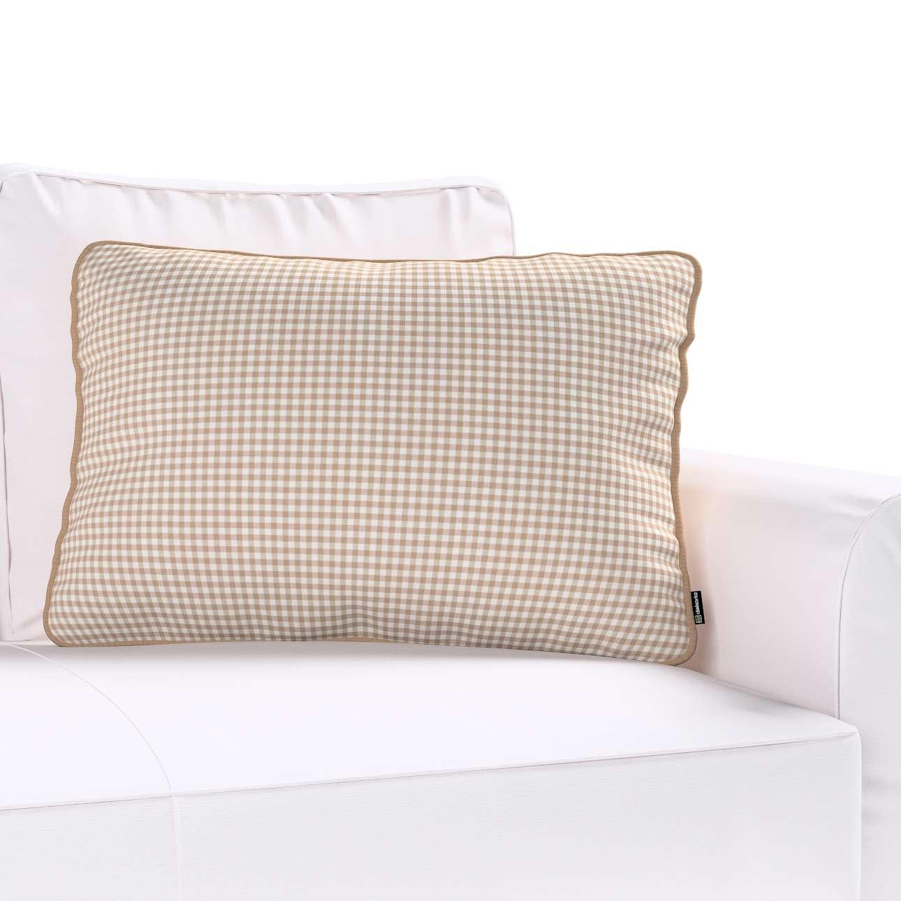 Gabi dekoratyvinės pagavėlės užvalkalas su specialia siūle 60x40cm 60 x 40 cm kolekcijoje Quadro, audinys: 136-05