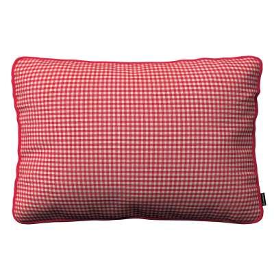 Gabi dekoratyvinės pagavėlės užvalkalas su specialia siūle 60x40cm 136-15 Raudoni ir šviesūs kvadratai (0,5x0,5cm) Kolekcija Quadro