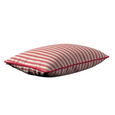 Gabi dekoratyvinės pagavėlės užvalkalas su specialia siūle 60x40cm 136-17 raudonos ir šviesios juostelės (1,5cm), audinys turi natūralų švelnų pasibangavimą Kolekcija Quadro