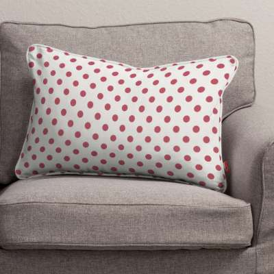 Gabi piped cushion cover 60x40cm 137-70 red spots on white background Collection Little World
