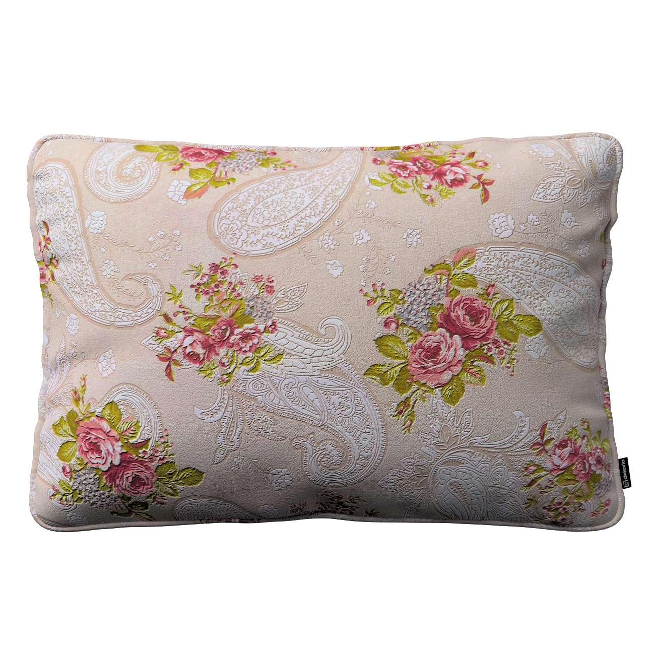 Gabi dekoratyvinės pagavėlės užvalkalas su specialia siūle 60x40cm 60 x 40 cm kolekcijoje Flowers, audinys: 311-15