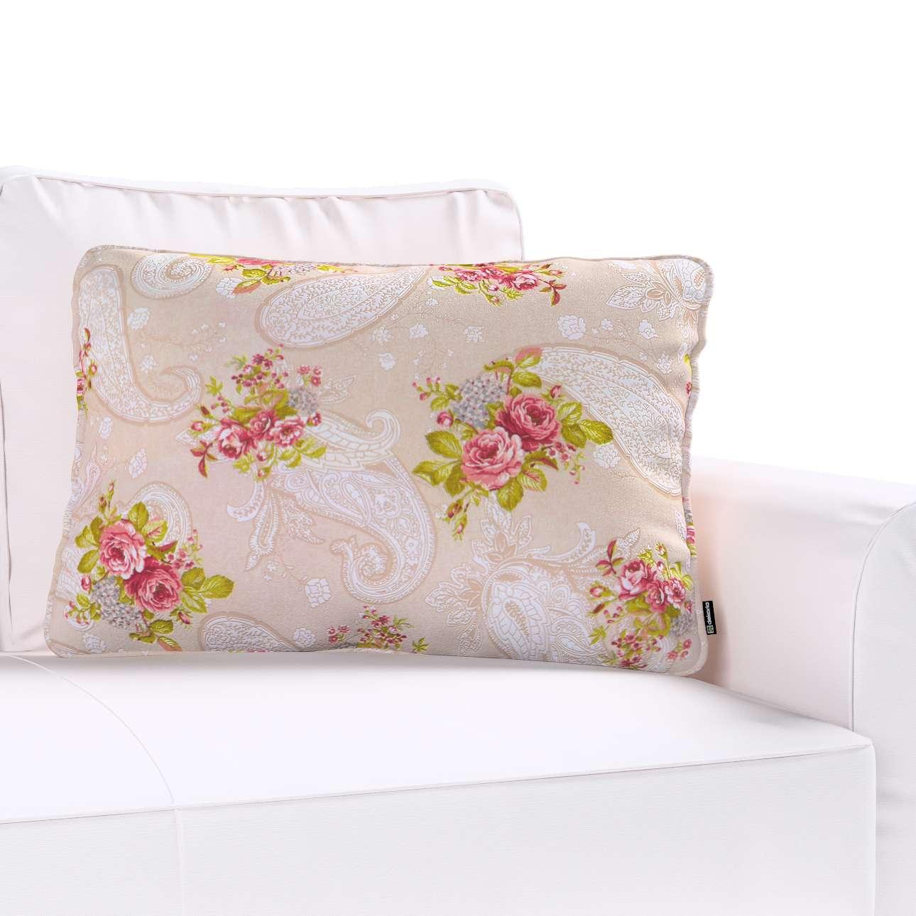 Poszewka Gabi na poduszkę prostokątna 60x40cm w kolekcji Flowers, tkanina: 311-15