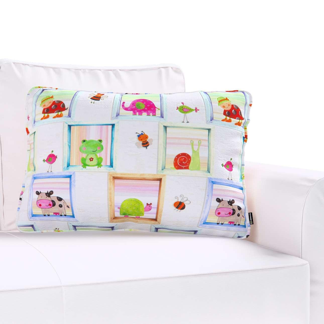 Poszewka Gabi na poduszkę prostokątna 60x40cm w kolekcji Apanona do -30%, tkanina: 151-04