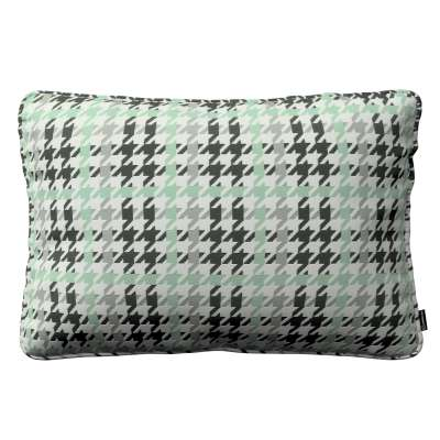 Gabi piped cushion cover 60x40cm 137-77 mint and black houndstooth Collection SALE