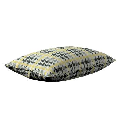 Gabi piped cushion cover 60x40cm 137-79 yellow and black houndstooth Collection SALE