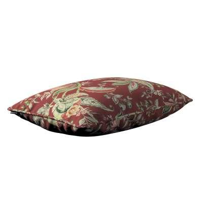 Poszewka Gabi na poduszkę prostokątna 142-12 wzory roślinne i kwiatowe na czerwono-ceglanym tle Kolekcja Gardenia