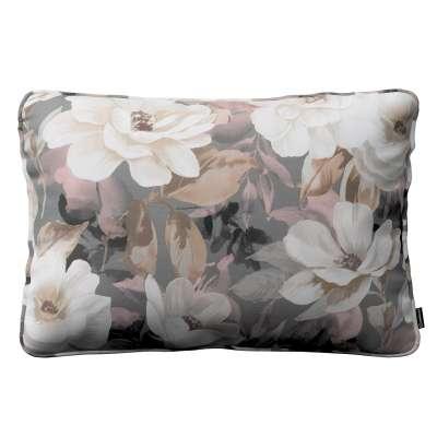 Gabika so šnúrkou, obliečka 60x40cm 142-13 svetlé kvety na sivom podklade so svetlo ružovou a béžovou Kolekcia Gardenia