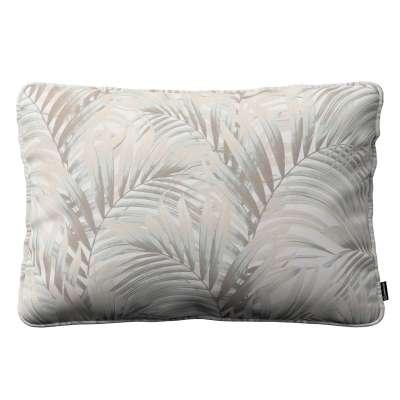 Poszewka Gabi na poduszkę prostokątna 142-14 beżowo- kremowe liście palmy na białym tle  w  Kolekcja Gardenia