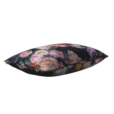 Gabika so šnúrkou, obliečka 60x40cm 161-02 farebné kvety na tmavom pozadí Kolekcia Gardenia