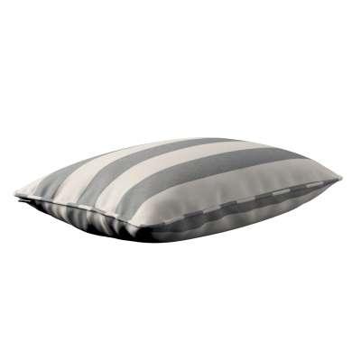 Poszewka Gabi na poduszkę prostokątna 142-71 biało - szare pasy (5,5cm) Kolekcja Quadro