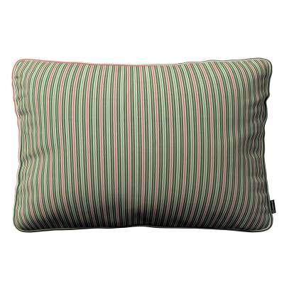 Poszewka Gabi na poduszkę prostokątna 143-42 pasy w odcieniach zieleni i czerwieni Kolekcja Londres