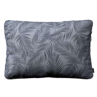 Poszewka Gabi na poduszkę prostokątna 143-53 grafitowe liście na szaro-srebrnym tle Kolekcja Venice