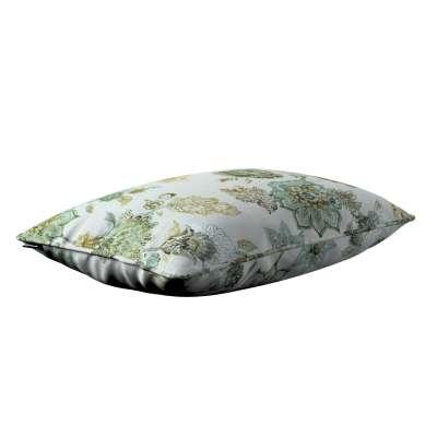 Poszewka Gabi na poduszkę prostokątna 143-67 kwiaty na beżowo - szarym tle Kolekcja Flowers