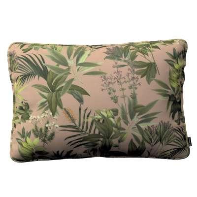 Poszewka Gabi na poduszkę prostokątna 143-71 zielona roślinność na brudnoróżowym tle Kolekcja Tropical Island