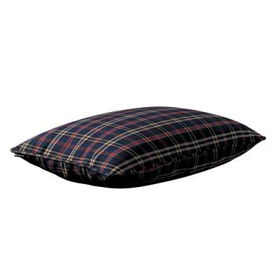 Gabi piped cushion cover 60x40cm 142-68 dark blue and red check Collection Christmas