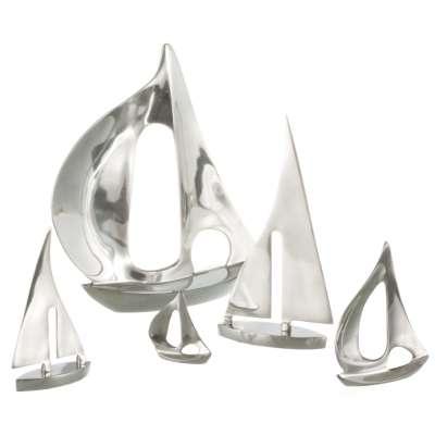 Dekoracja-żaglówka VOYAGE metalowa wys. 21 cm