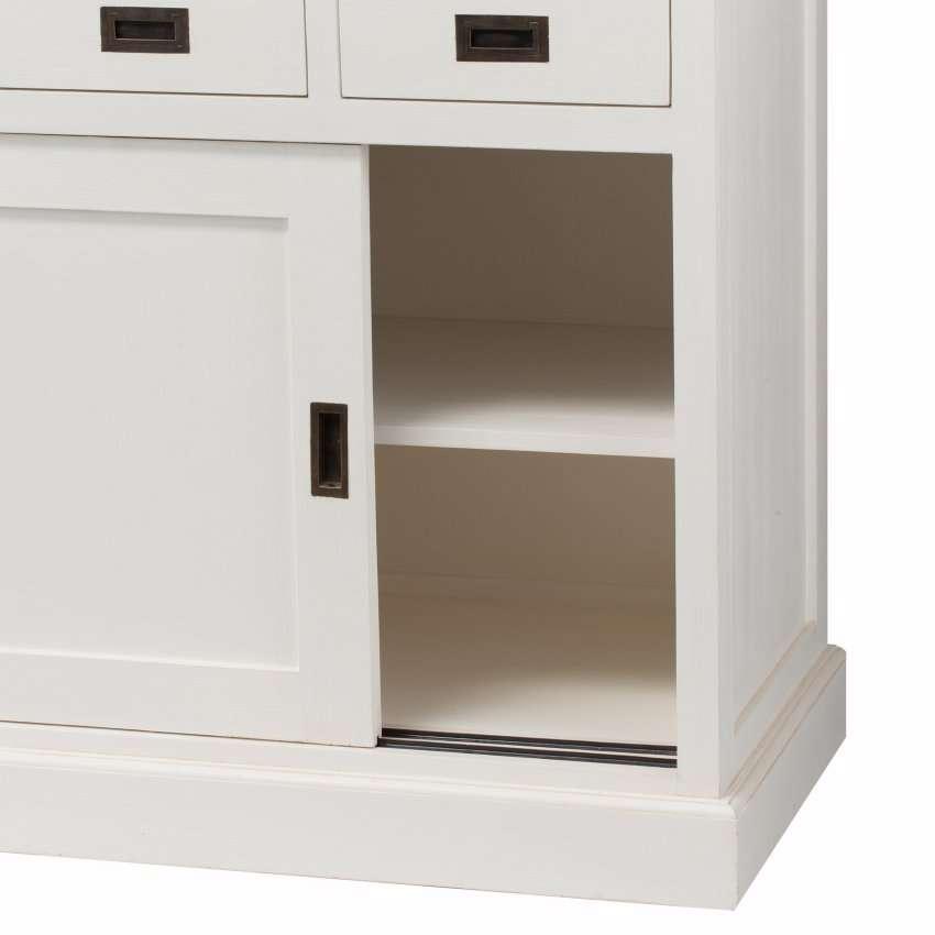 vitrine milton mit 4 schubladen 144x226x53cm 144x53x226cm dekoria. Black Bedroom Furniture Sets. Home Design Ideas
